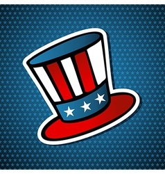 USA elections american hat vector image