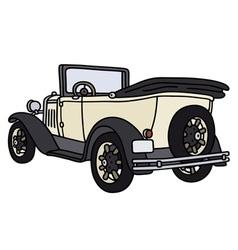 Vintage light cabriolet vector