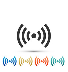 wi-fi network symbol icon on white background vector image