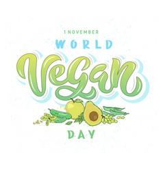 World vegan day vector