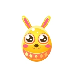 yellow egg shaped easter bunny vector image