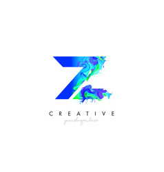 z letter icon design logo with creative artistic vector image