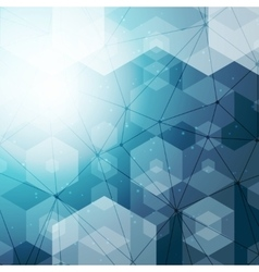Abstract polygonal space blue hexagonal background vector image vector image