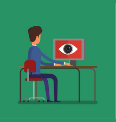 concept of spying big brother vector image