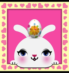 Cute Happy Easter card vector image vector image