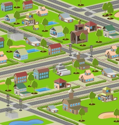 highways small town vector image vector image