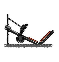 Incline leg press vector