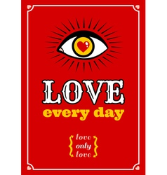 Love every day vector image