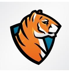 Tiger shield sport mascot template Football or vector image