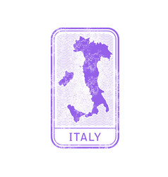 travel stamp - italy journey map outline vector image vector image