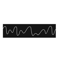 equalizer sonic icon simple black style vector image vector image
