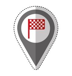 finish flag isolated icon vector image