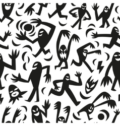 funny monsters -seamless background vector image vector image