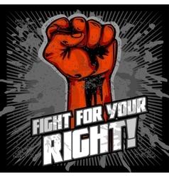 Hand Up Proletarian Revolution - Fist of vector image