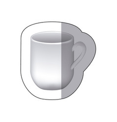 sticker white cuppa icon vector image