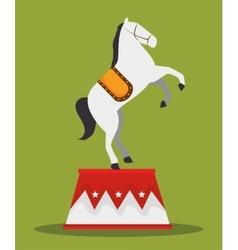 Acrobat horse show circus carnival vector