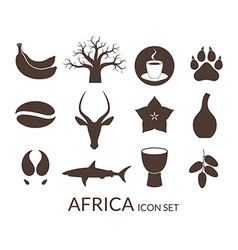 Africa Icon set vector image vector image