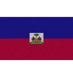 Flags Haiti on denim texture vector image