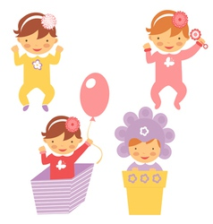 Spring babies set vector image vector image