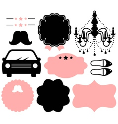 Vintage design elements isolate on white vector image