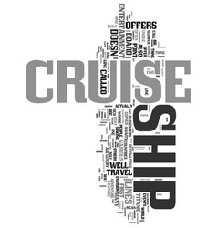 your adventure awaits on a cruise ship text word vector image vector image