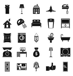 placement icons set simple style vector image vector image