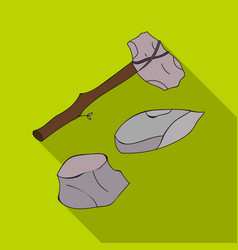 stone tools icon in flate style isolated on white vector image