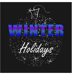 winter holidays neon letters with christmas ball vector image vector image
