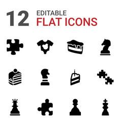 12 piece icons vector