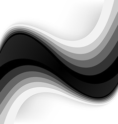 Abstract waves - data stream concept vector image
