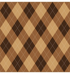 Argyle pattern brown rhombus seamless texture vector