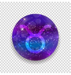 Astrological symbol of taurus abstract shiny vector