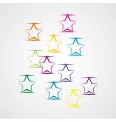 background with squares and stars vector image