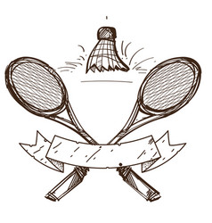 Badminton logo sport hobbies outdoor recreation vector