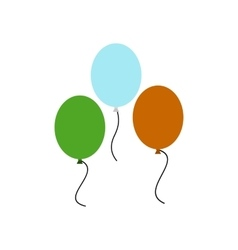 Balloons in irish colors icon vector