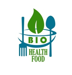 Bio health food icon vector image