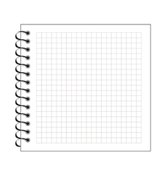 blank spiral notepad paper vector image