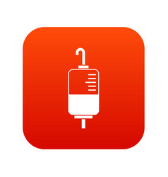 blood donation icon digital red vector image