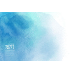 blue liquid stain watercolor background vector image
