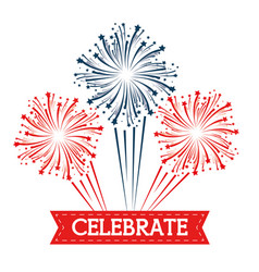 brightly colorful fireworks and celebration vector image