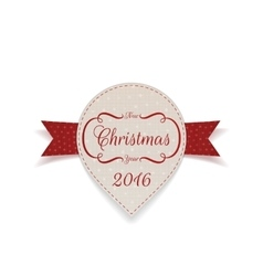 Christmas and New Year Banner with Ribbon vector image