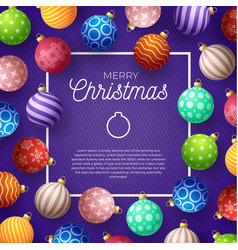 christmas square promo banner holiday vector image