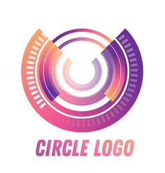 circle logo shape isolated on white vector image