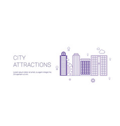 city attractions travel landmarks concept template vector image