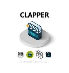 Clapper icon in different style vector