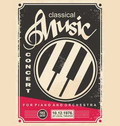 Classical music concert for piano and orchestra re vector