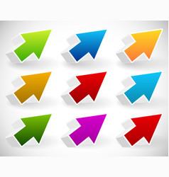 colorful 3d arrow set vector image