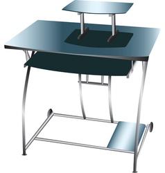 Computer desk workstation vector
