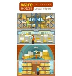 Concept infographics equipment warehouse vector