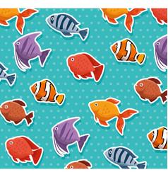 Cute ornamental fish pattern background vector